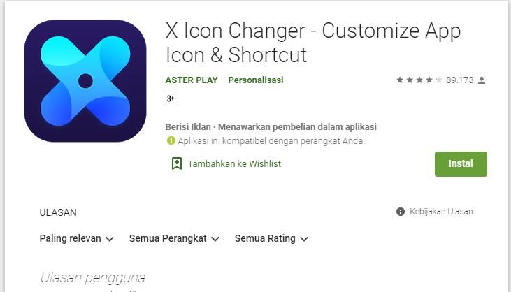 Cara Menggunakan Aplikasi X Icon Changer