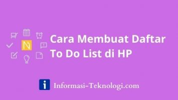 Cara Membuat Daftar To Do List di HP