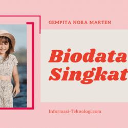 Biodata Singkat Gempita Nora Marten, Biasa Dipanggil Gempi