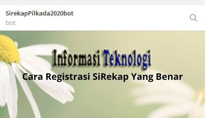 Cara Registrasi SiRekap Yang Benar