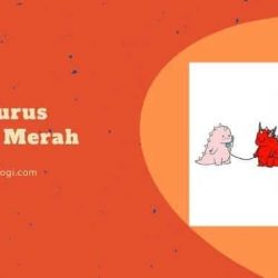 Dinosaurus Couple Merah