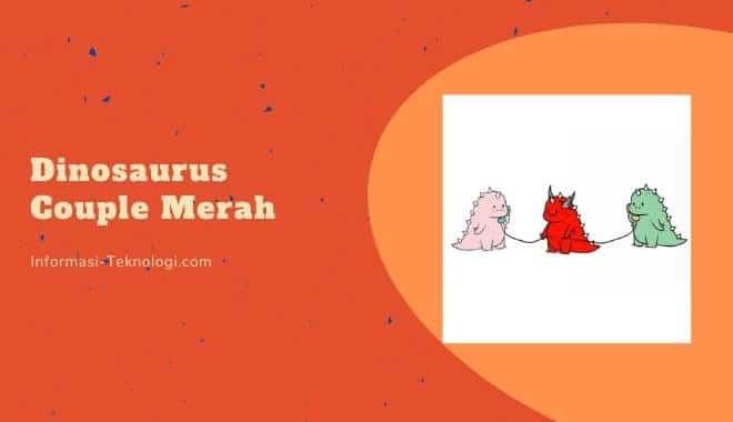 Dinosaurus Couple Merah