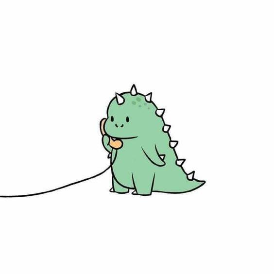 Dinosaurus Hijau Kartun Viral