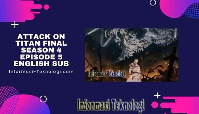 Attack On Titan Final Season 4 Episode 5 English Sub