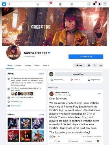 Kode Redeem Free Fire Januari 2021