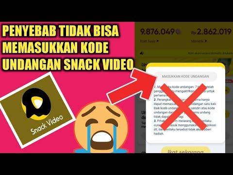 Kenapa Kode Undangan Snack Video Tidak Muncul