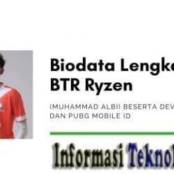 Biodata Lengkap BTR Ryzen (Muhammad Albi) Beserta Device, Pacar, dan PUBG Mobile ID