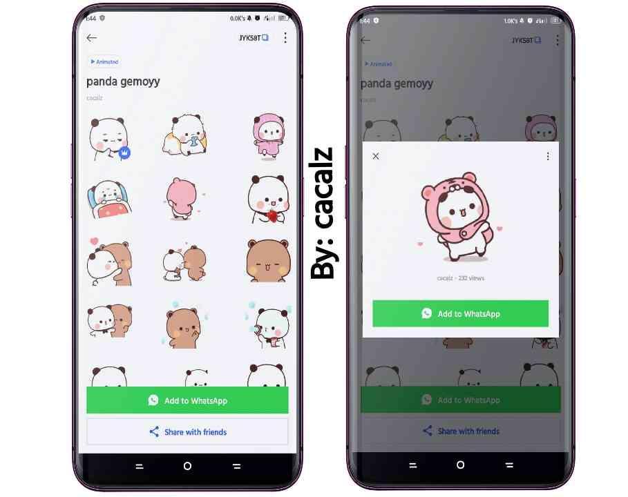 Download Stiker WA Panda Gemoy Viral 2021