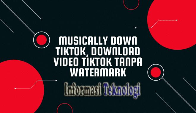 Musically Down Tiktok, Download Video Tiktok Tanpa Watermark